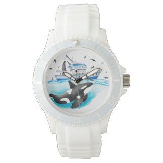 Orque et le bateau de pêche montres bracelet