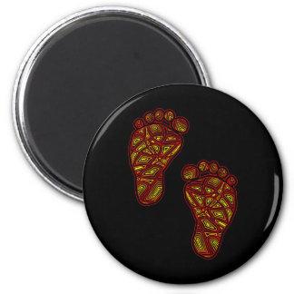 Orteils tribaux magnet rond 8 cm