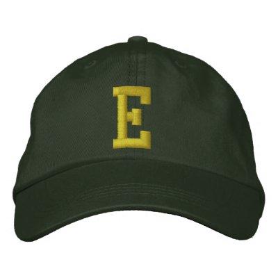 Orthographiez-le casquette de boule de la lettre i chapeaux brodés