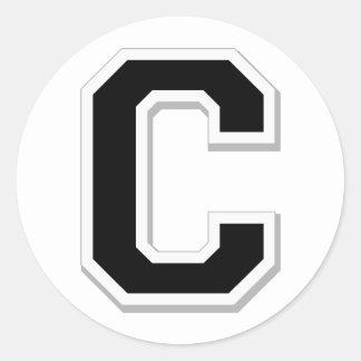 Orthographiez-le la lettre initiale C dans les Sticker Rond