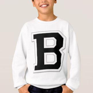 Orthographiez-le sweatshirt noir initial de la