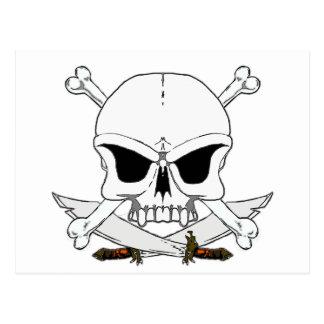 Os 2 de crâne et de croix de pirate carte postale