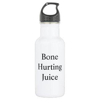 Os blessant la bouteille de jus