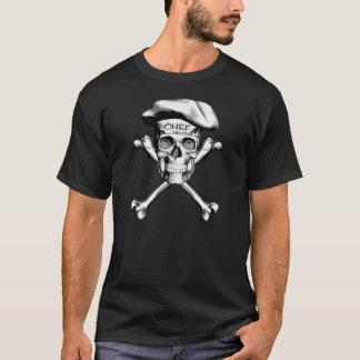 Os croisés de crâne de chef : Blanc T-shirt