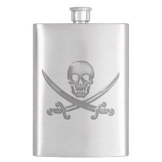 Os croisés de crâne et d'épée de pirate (TLAPD) Flasque