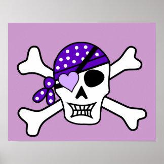 Os croisés pourpres de pirate affiches
