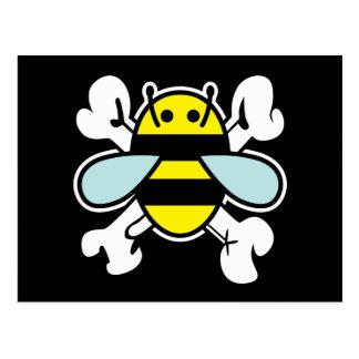 os d'abeille et de croix carte postale