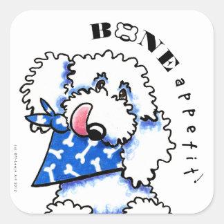Os de chien Appetit ! Aliments pour animaux Sticker Carré