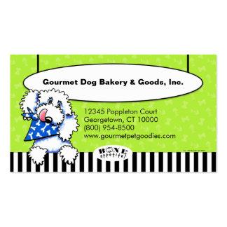 Os de chien Appetit ! Aliments pour animaux Carte De Visite Standard