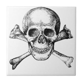 Os de crâne et de croix carreau