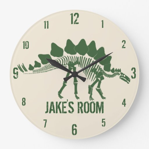 Os de dinosaure personnalisés horloge murale