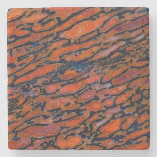 Os de dinosaure Petrified rouge Dessous-de-verre En Pierre