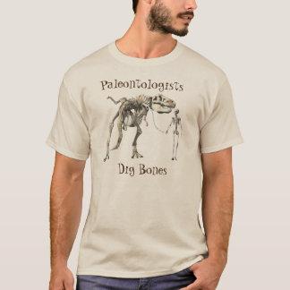 Os de fouille de paléontologues t-shirt