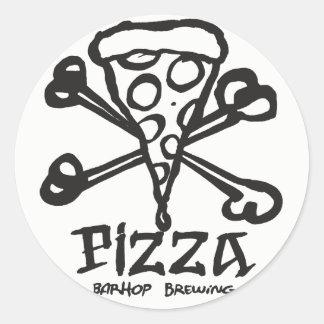 Os de pizza sticker rond