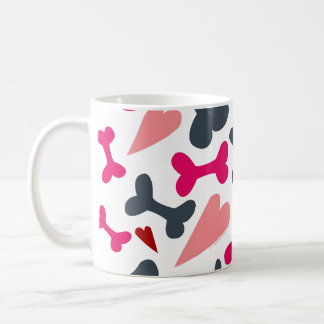 Os des coeurs n d'amoureux des chiens mugs