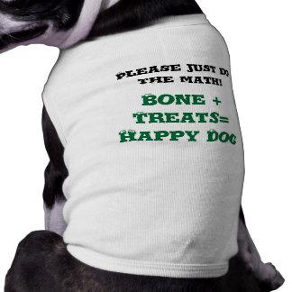 Os drôle de chemise de chienchien + Chien heureux  T-shirts Pour Chien