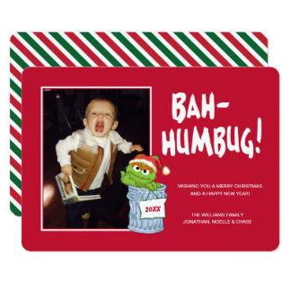 Oscar fumiste du Sesame Street | Bah avec la photo Carton D'invitation 12,7 Cm X 17,78 Cm