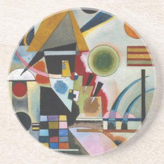 Oscillation abstraite de la peinture de Kandinsky Dessous De Verre En Grès