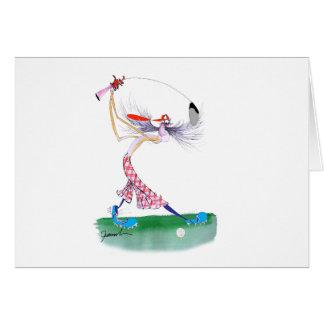 oscillation de golf, fernandes élégants carte de vœux