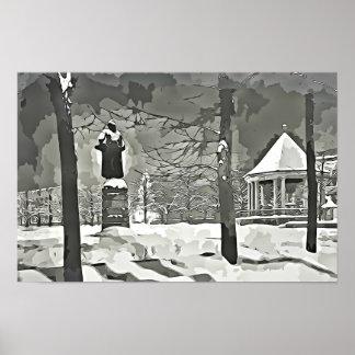 Oslo à l'affiche noire et blanche de photographie posters