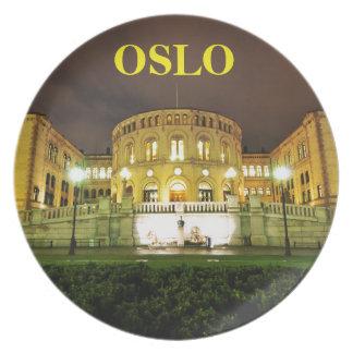 Oslo, Norvège la nuit Assiettes En Mélamine