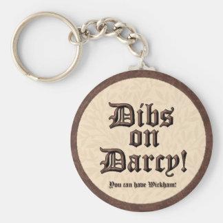 Osselets sur Darcy ! Porte - clé Porte-clé Rond