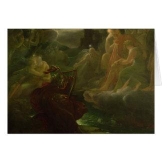 Ossian créant les spiritueux de la rivière carte de vœux