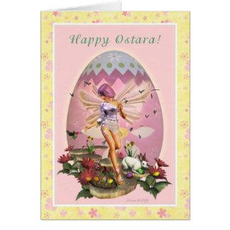 Ostara heureux - équinoxe vernal - féerie de cartes