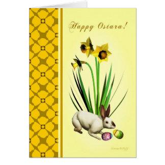 Ostara heureux - équinoxe vernal - jonquilles de cartes