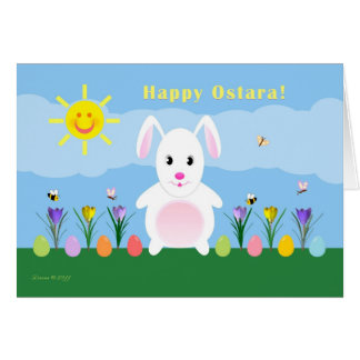 Ostara heureux - équinoxe vernal - lapin dans le cartes
