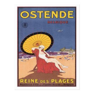 Ostende vintage Belgique Carte Postale