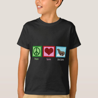 Otaries d'amour de paix t-shirt
