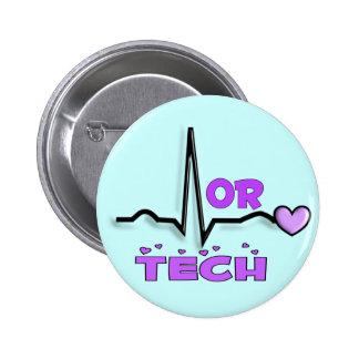 OU cadeaux de TECH, conception de segment de QRS Badge Rond 5 Cm