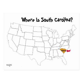 Où est la Caroline du Sud ? Carte Postale