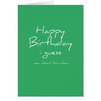 Où est le gâteau ? - Carte d'anniversaire - vert
