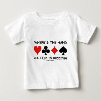 Où la main vous est tenue dans l'offre ? t-shirt pour bébé