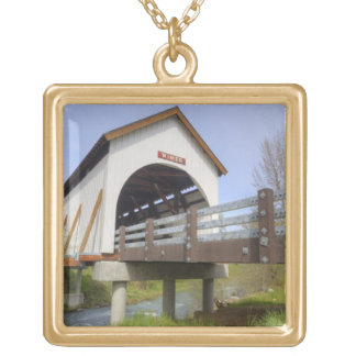 OU, le comté de Jackson, pont couvert de Wimer Pendentif Carré