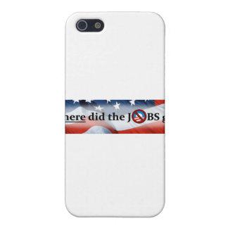 Où les TRAVAUX ont disparu aucun Obama Étuis iPhone 5