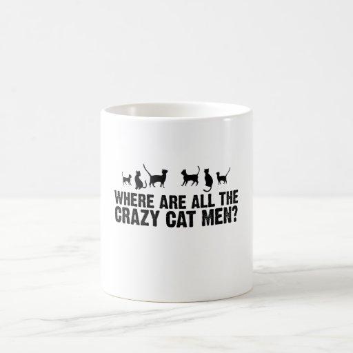 Où sont tout le chat fou des hommes ? tasses