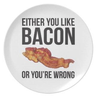 Ou vous aimez le lard ou vous avez tort assiette