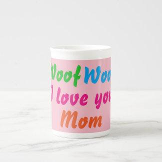 Ouaf ouaf je t'aime tasses de thé de café de maman