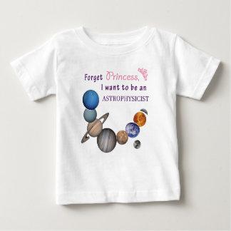 Oubliez la princesse - astrophysicienne t-shirt pour bébé