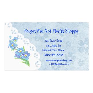 Oubliez-moi pas carte de visite de fleur de magasi