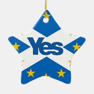 Oui à l'Européen indépendant Ecosse Ornement Étoile En Céramique
