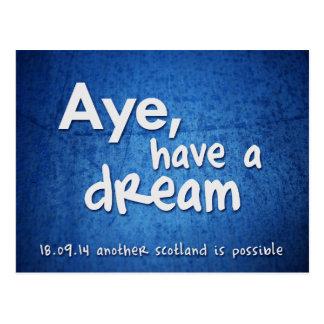 Oui, ayez une carte postale rêveuse
