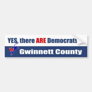 Oui, il Y A Démocrate dans le comté de Gwinnett Autocollant Pour Voiture