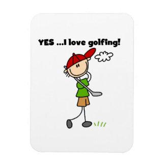 Oui j aime jouer au golf magnets