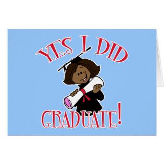 Oui j'ai reçu un diplôme des produits carte de vœux