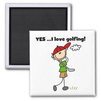 Oui j'aime jouer au golf magnets