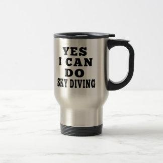 Oui je peux faire le parachutisme mug de voyage